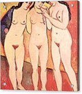 Three Naked Girls Acrylic Print