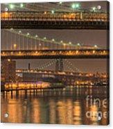 Three New York Bridges Acrylic Print