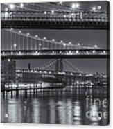 Three New York Bridges II Acrylic Print