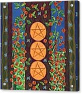 Three Of Pentacles Acrylic Print