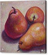 Three Pears #2 Acrylic Print