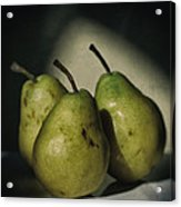 Three Pears Green Acrylic Print