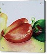 Three Peppers Acrylic Print