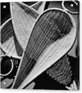 Three Reed Baskets Acrylic Print