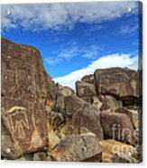 Three Rivers Petroglyphs 2 Acrylic Print