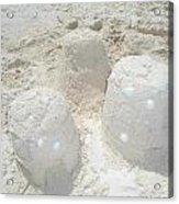 Three Sand Castles Acrylic Print