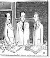 Three Scientists In A Lab Acrylic Print