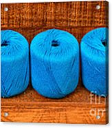 Three Skeins Of Knitting Yarn Acrylic Print