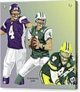 Three Stages Of Bret Favre Acrylic Print