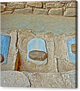 Three Stones For Grinding Corn In Spruce Tree House In Mesa Verde National Park-colorado Acrylic Print