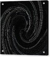Three Swirls On Black Acrylic Print