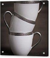 Three Tea Cups Acrylic Print