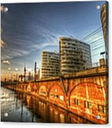 Three Towers Berlin Acrylic Print by Nathan Wright