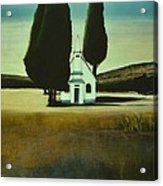 Three Trees And A Church Acrylic Print