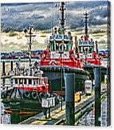 Three Tugs Hdr Acrylic Print