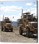 Three U.s. Army Mine Resistant Ambush Acrylic Print