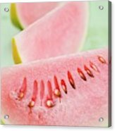 Three Wedges Of Watermelon Acrylic Print