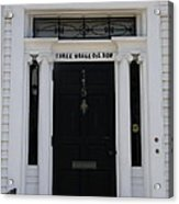 Three Whale Oil Row - Black Door - New London Acrylic Print