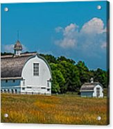 Three White Barns Acrylic Print