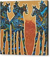 Three With Rope Acrylic Print by Lance Headlee