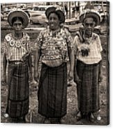 Three Women In Atitlan Acrylic Print