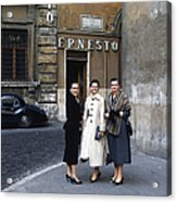 Three Women Mid Century Acrylic Print