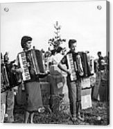 Three Young Accordion Players Acrylic Print