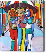 Threes A Crowd By Anthony Falbo                                          Acrylic Print by Anthony Falbo