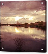 Through The Clouds Acrylic Print by George Lenz