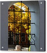 Through The Fence Window Acrylic Print