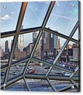 Through The Glass At Philly Acrylic Print