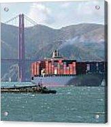 Through The Golden Gate Acrylic Print