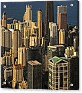 Through The Haze Chicago Shines Acrylic Print