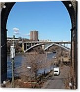 Through The Highbridge Acrylic Print by Steve Breslow