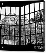 Through The Monastery Window Acrylic Print