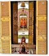 Through The Temple Doors India Acrylic Print