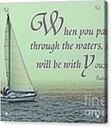 Through The Waters Acrylic Print