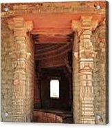 When Windows Become Art - Jain Temple - Amarkantak India Acrylic Print