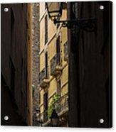 Thru The Narrow Alley Acrylic Print