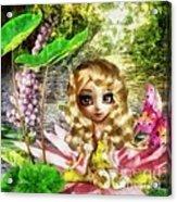 Thumbelina Acrylic Print by Mo T