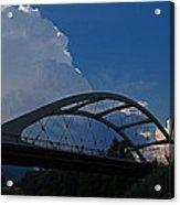 Thunder Over The Rogue River Bridge Acrylic Print