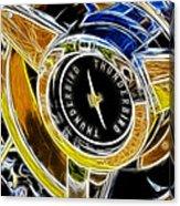 Thunderbird Spokes Fractal Acrylic Print