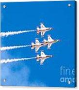 Thunderbirds And Blue Sky  Acrylic Print