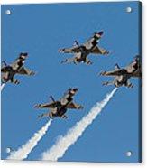 Thunderbirds Diamond Flyover Acrylic Print