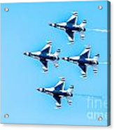 Thunderbirds Flying Over Acrylic Print