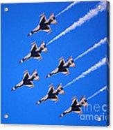 Thunderbirds Jet Team Flying Fast Acrylic Print