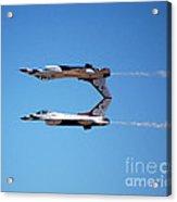 Thunderbirds Jet Team Perfect Symmetry Acrylic Print