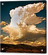 Thunderhead Over The Blacktail Plateau Acrylic Print by Marty Koch