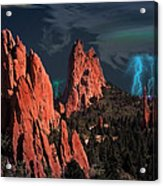 Thunderstorm At Garden Of The Gods Acrylic Print