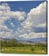 Thunderstorm Clouds Boiling Over The Colorado Rocky Mountains Acrylic Print